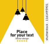 modern interior.vector isolated ... | Shutterstock .eps vector #1161495901