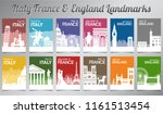 italy france and england famous ... | Shutterstock .eps vector #1161513454