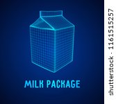 milk package or juice box.... | Shutterstock . vector #1161515257