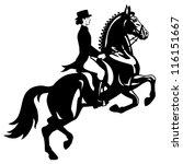 Horse Rider Dressage Equestria...