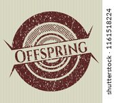 red offspring distress rubber... | Shutterstock .eps vector #1161518224