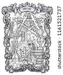 magician. major arcana tarot... | Shutterstock .eps vector #1161521737
