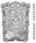 death. major arcana tarot card. ... | Shutterstock .eps vector #1161521944