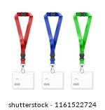 set of lanyards with id card.... | Shutterstock .eps vector #1161522724
