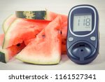 watermelon and glucose meter... | Shutterstock . vector #1161527341