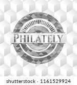 philately realistic grey emblem ... | Shutterstock .eps vector #1161529924