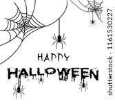 happy halloween spider of web... | Shutterstock .eps vector #1161530227
