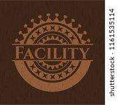 facility wood emblem. vintage. | Shutterstock .eps vector #1161535114