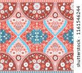 indian rug tribal ornament... | Shutterstock .eps vector #1161546244