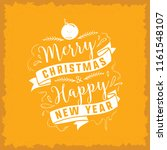 merry christmas. typography.... | Shutterstock .eps vector #1161548107