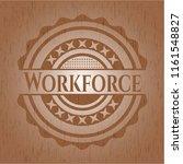 workforce retro wooden emblem | Shutterstock .eps vector #1161548827