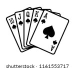 spade royal straight flush... | Shutterstock .eps vector #1161553717