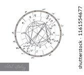 horoscope natal chart ... | Shutterstock .eps vector #1161554677