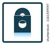 vinyl record in envelope icon....   Shutterstock .eps vector #1161559597