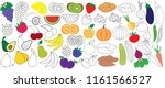 vegetables  fruits and berries ... | Shutterstock .eps vector #1161566527