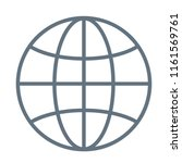 international globe line art...