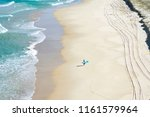 Aerial Of A Lonely Surfer...