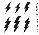 lightning bolt icons.... | Shutterstock .eps vector #1161583324