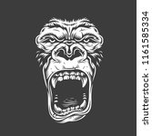face of gorilla isolated on... | Shutterstock .eps vector #1161585334