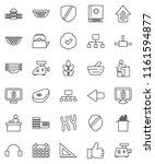 thin line vector icon set  ... | Shutterstock .eps vector #1161594877