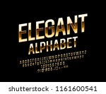vector golden alphabet. rotated ... | Shutterstock .eps vector #1161600541