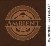 ambient retro wood emblem | Shutterstock .eps vector #1161601687