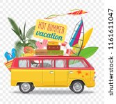 summer travel vector... | Shutterstock .eps vector #1161611047