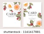 wedding invitation  floral... | Shutterstock .eps vector #1161617881