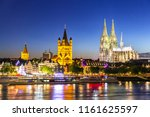 cologne cathedral along river... | Shutterstock . vector #1161625597