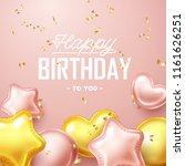 happy birthday background with... | Shutterstock .eps vector #1161626251