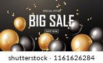 sale banner with black and gold ... | Shutterstock .eps vector #1161626284