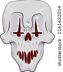 Evil Clown Skull With Inverted...