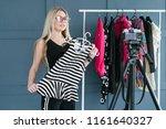 social media influencer at work....   Shutterstock . vector #1161640327