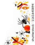 halloween holiday background... | Shutterstock . vector #1161640894