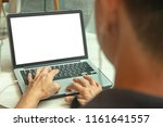man working on laptop computer... | Shutterstock . vector #1161641557