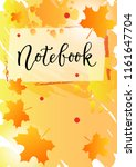 modern calligraphy of notebook... | Shutterstock .eps vector #1161647704