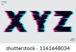 vector typeset design. neon... | Shutterstock .eps vector #1161648034