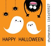 happy halloween card. two... | Shutterstock . vector #1161650527