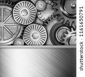 metallic gears background  3d... | Shutterstock . vector #1161650791