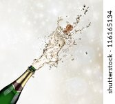 close up of champagne explosion | Shutterstock . vector #116165134