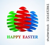 happy easter greeting card... | Shutterstock . vector #1161652861