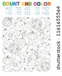 coloring book page. count and... | Shutterstock .eps vector #1161655564