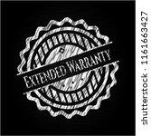 extended warranty chalk emblem | Shutterstock .eps vector #1161663427