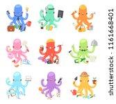 octopus in business vector... | Shutterstock .eps vector #1161668401