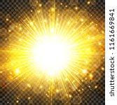sun light and sunburst with... | Shutterstock .eps vector #1161669841