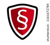 paragraph shield icon. | Shutterstock .eps vector #1161672784