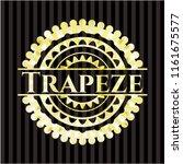 trapeze gold shiny emblem | Shutterstock .eps vector #1161675577