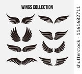 wings icon logo template vector ... | Shutterstock .eps vector #1161682711