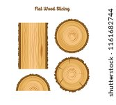tree wood ring vector flat... | Shutterstock .eps vector #1161682744