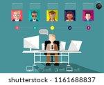 business man working on... | Shutterstock .eps vector #1161688837